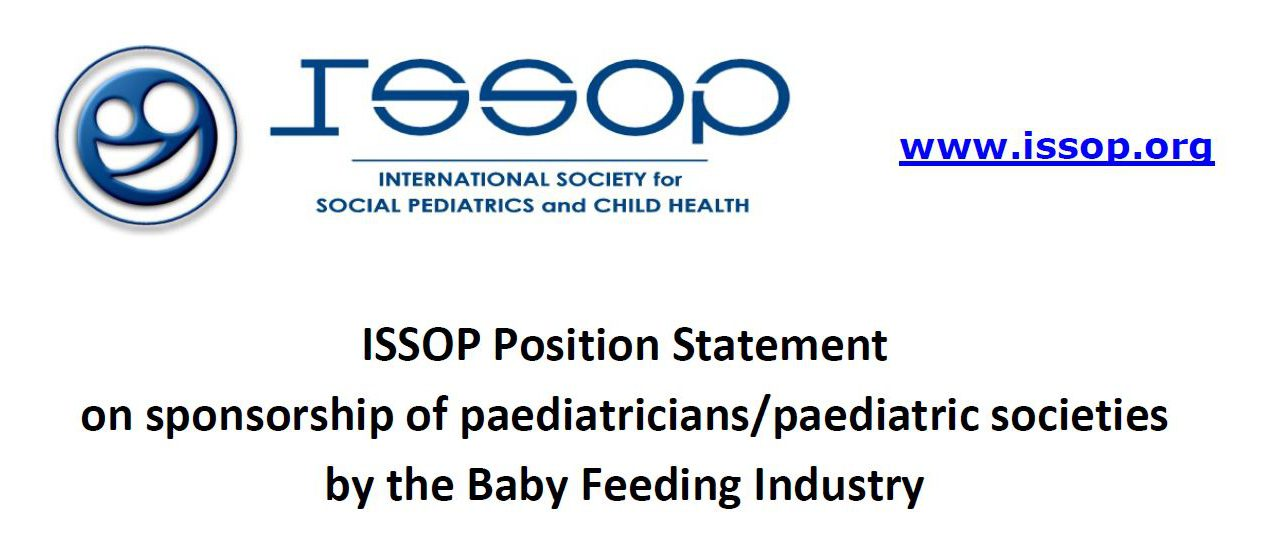 issop position statement 4 – sponsoring Baby Feeding Industry
