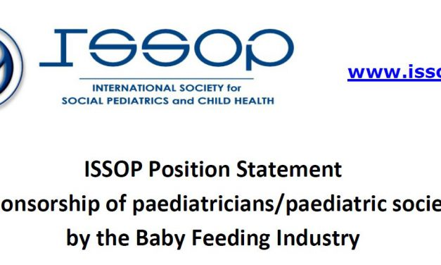 issop position statement 4 – sponsoring Baby Feeding Industry