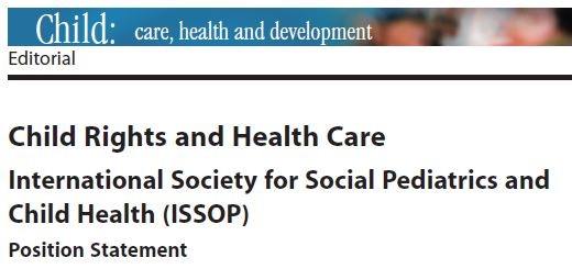 issop position statement 5 – Child Rights and Health Care