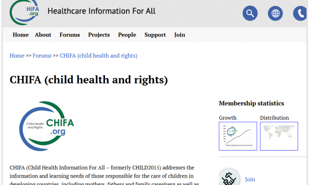 new website for CHIFA (child health and rights) – Health information for all