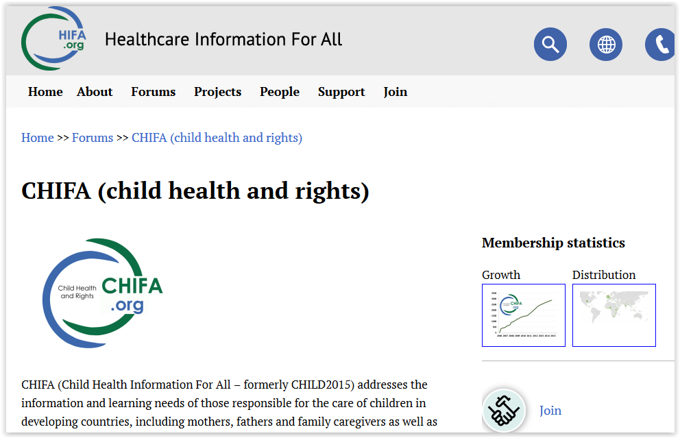 go and contribute to CHIFA (child health and rights) – Health information for all