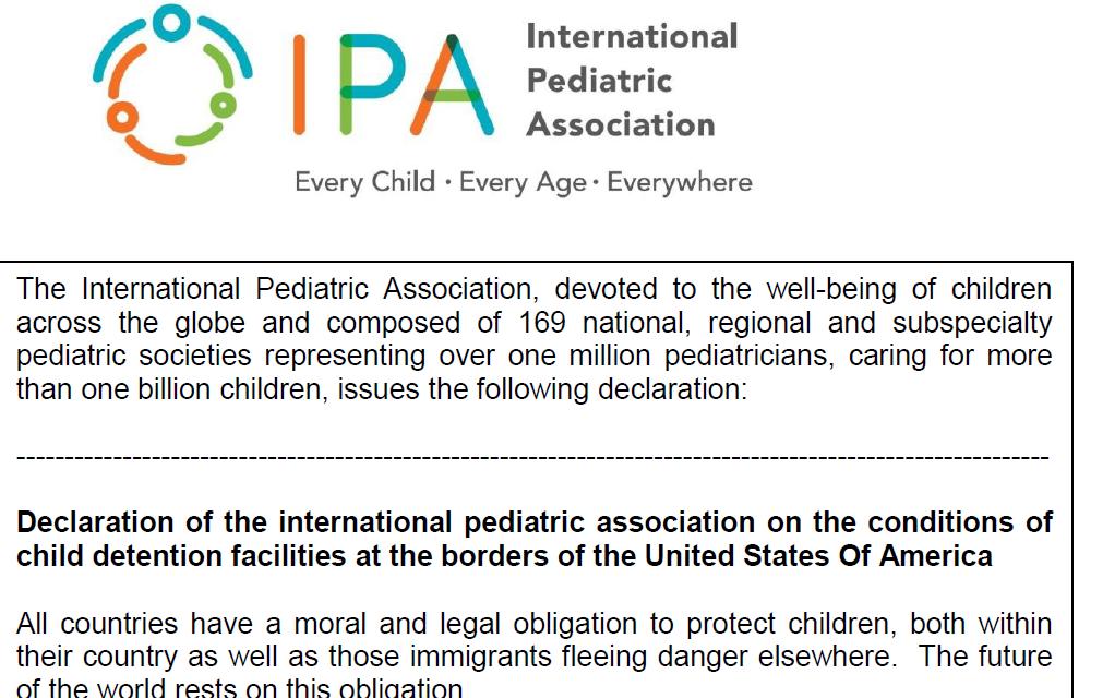 IPA Declaration on migrant children at US borders
