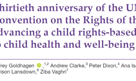 Thirtieth anniversary of the UN Convention on the Rights of the Child: advancing a child rights-based approach to child health and well-being