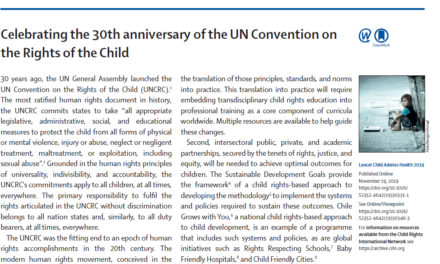 Celebrating the 30th anniversary of the UN Convention on the Rights of the Child