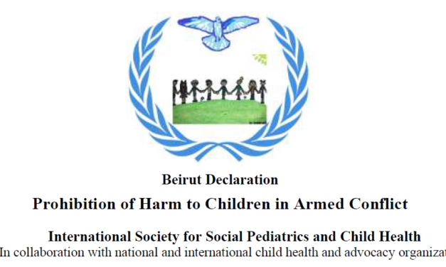 Beirut Declaration – Prohibition of Harm to Children in Armed Conflict