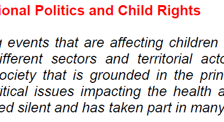 ISSOP Statement on National Politics and Child Rights