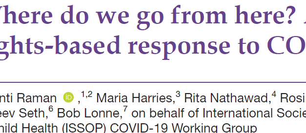 Where do we go from here? A child rights-based response to COVID-19