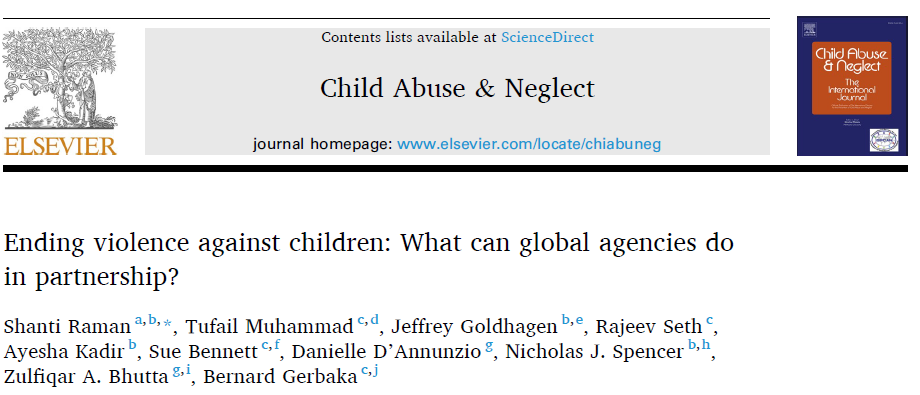 Ending violence against children: What can global agencies do in partnership?