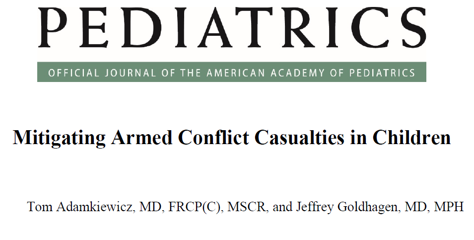 Mitigating armed conflict casualties in children