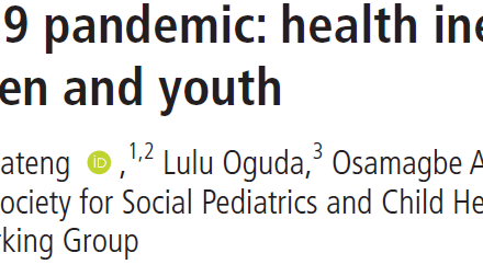 COVID 19 and child and adolescent health inequity