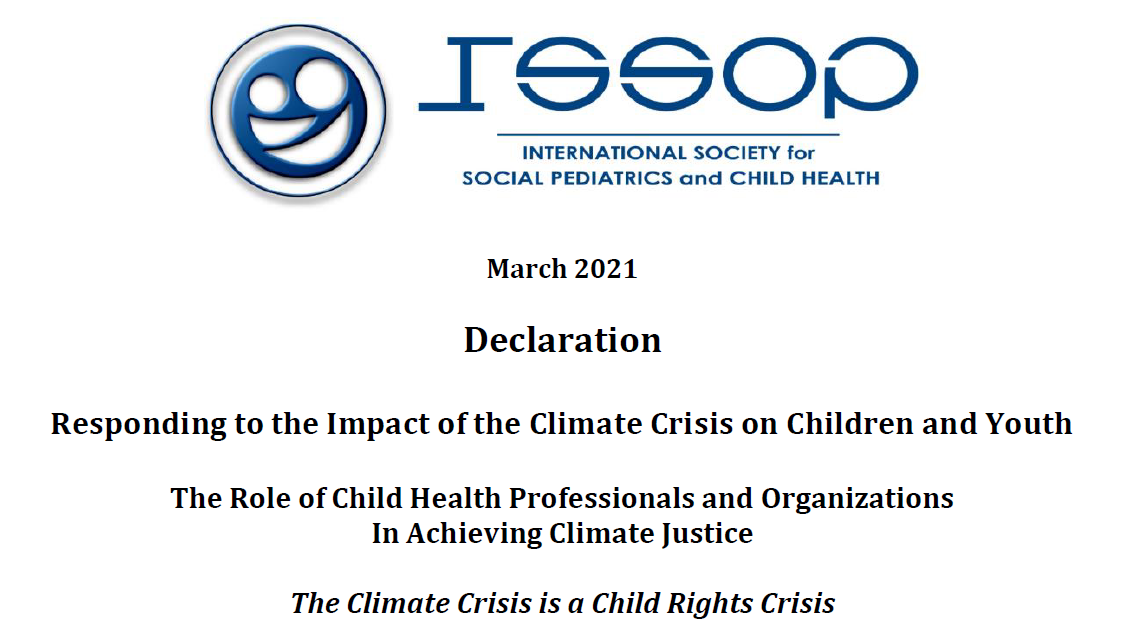 ISSOP DECLARATION ON CLIMATE CHANGE