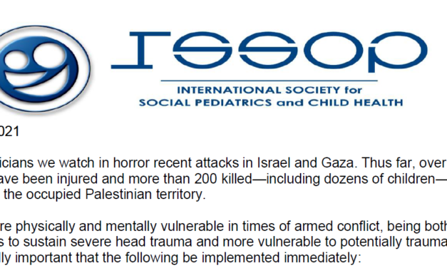 issop statement – protect children in israel & gaza