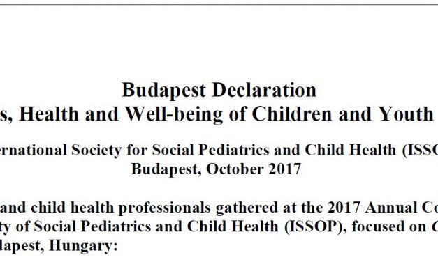 Endorsement of the Budapest Declaration On the Rights, Health and Well-being of Children and Youth on the Move