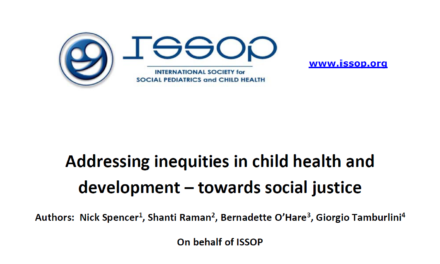 ISSOP Position statement 1 has been updated: Addressing inequities in child health and development – towards social justice