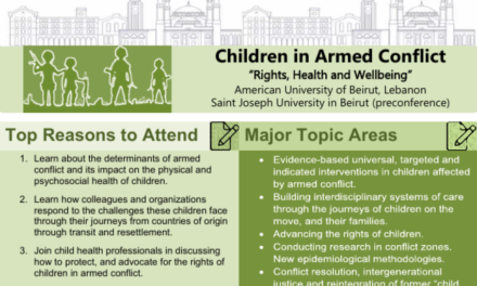 ISSOP2019 – Children in Armed Conflict – 25-28th Sept 2019 – Beirut, Lebanon – Flyer