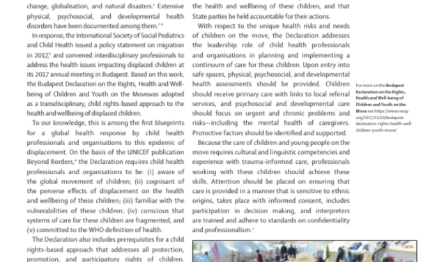 ISSOP Budapest Declaration published as paper in Lancet CAH