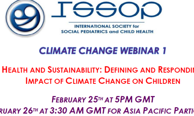 ISSOP CLIMATE CHANGE WEBINAR NO.1 'CHILD HEALTH AND SUSTAINABILITY'